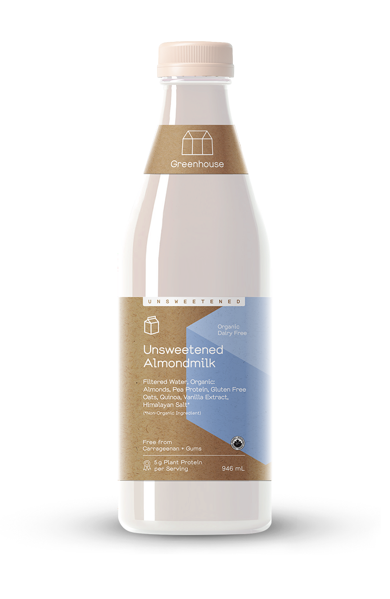 Greenhouse 946ml almondmilk unsweetened productshot